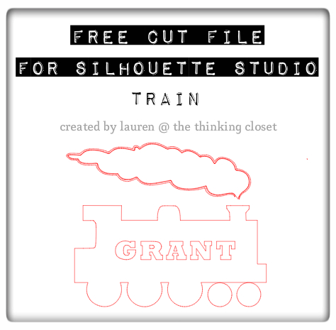 Another free cut file from The Thinking Closet: Train for a Toddler T-Shirt