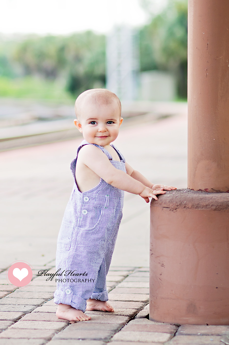 Toddler Photo Shoot at the Train Tracks by Playful Hearts Photography