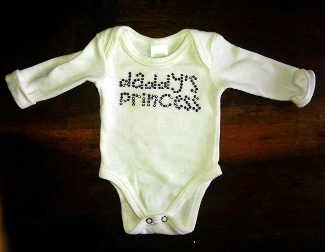 Rhinestone Onesie | Reader Showcase at The Thinking Closet