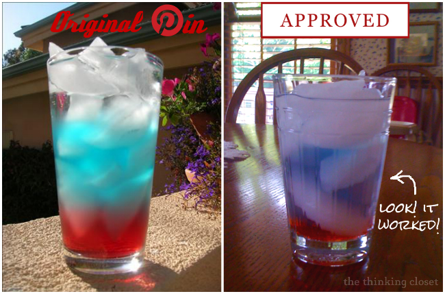 A Patriotic Beverage | Tips & Tricks for making your own red, white, & blue drinks this Fourth of July! via The Thinking Closet