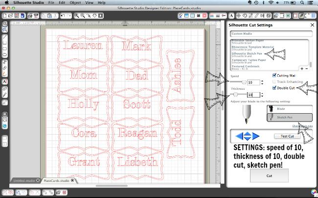 Sketch Pen Place Card Tutorial via The Thinking Closet