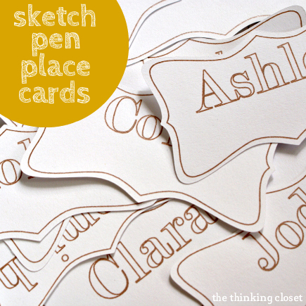 Sketch Pen Place Cards | A Tutorial and Special Promotion by The Thinking Closet