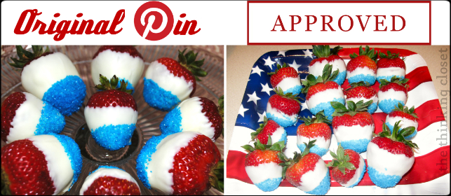 Red-White-and-Blue Strawberries for the Fourth of July! Pinterest Tested & Approved by The Thinking Closet