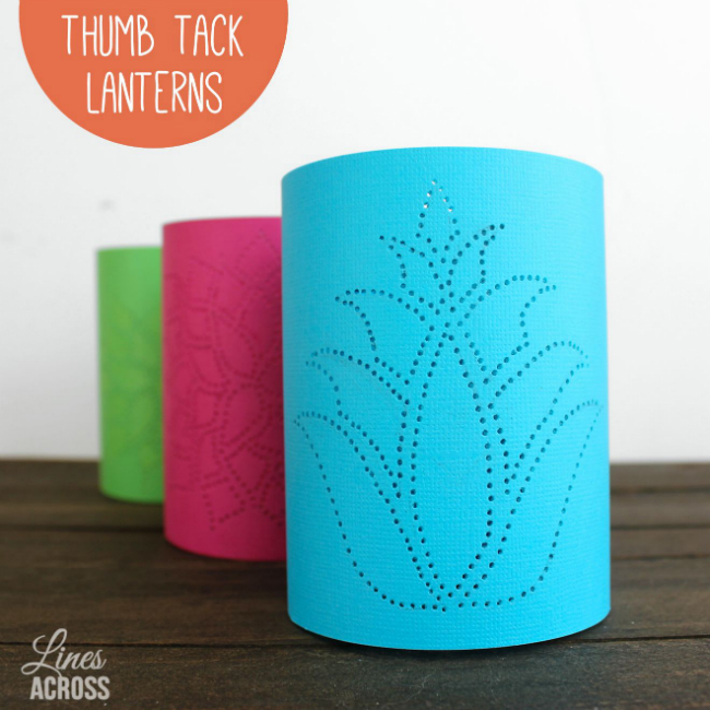Thumb-Tack Lanterns | Reader Showcase at The Thinking Closet