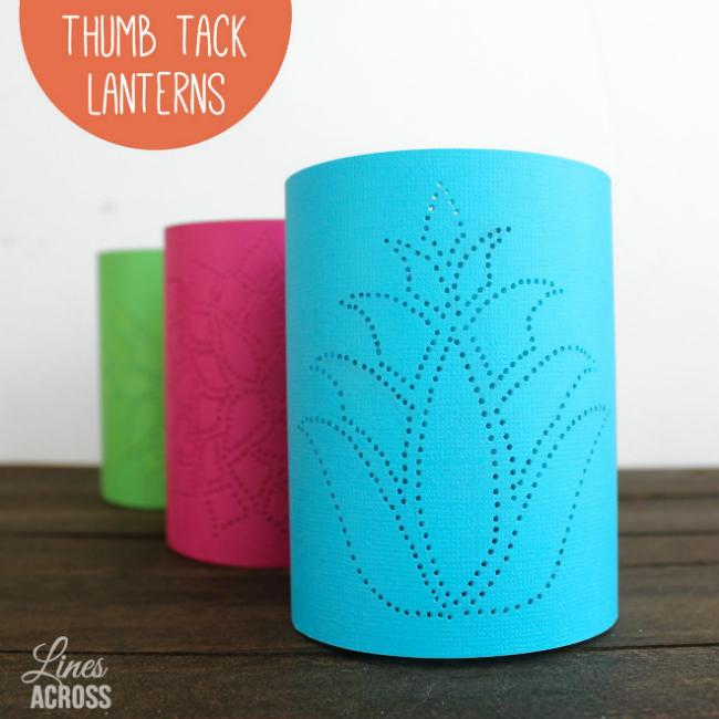 Thumb-Tack Lanterns   Reader Showcase at The Thinking Closet