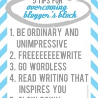 5 Tips for Overcoming Blogger's Block