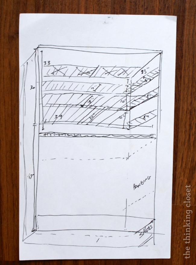 Shelving Plans for the Fjell Wardrobe Hack | The Thinking Closet