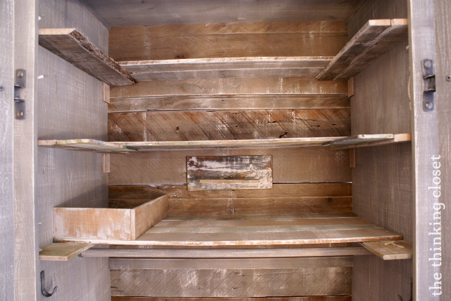 Use Rustic Pallet Boards To Create A New Backing And Terraced Shelves For Your Wardrobe
