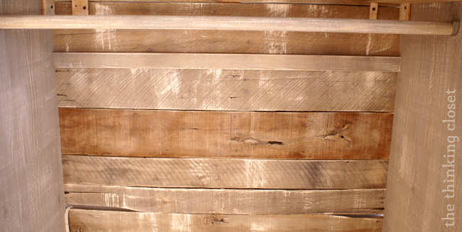 Use Pallet Boards in lieu of Fiberboard for the Backing of a Wardrobe   The Thinking Closet