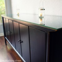 Black Distressed Buffet Makeover