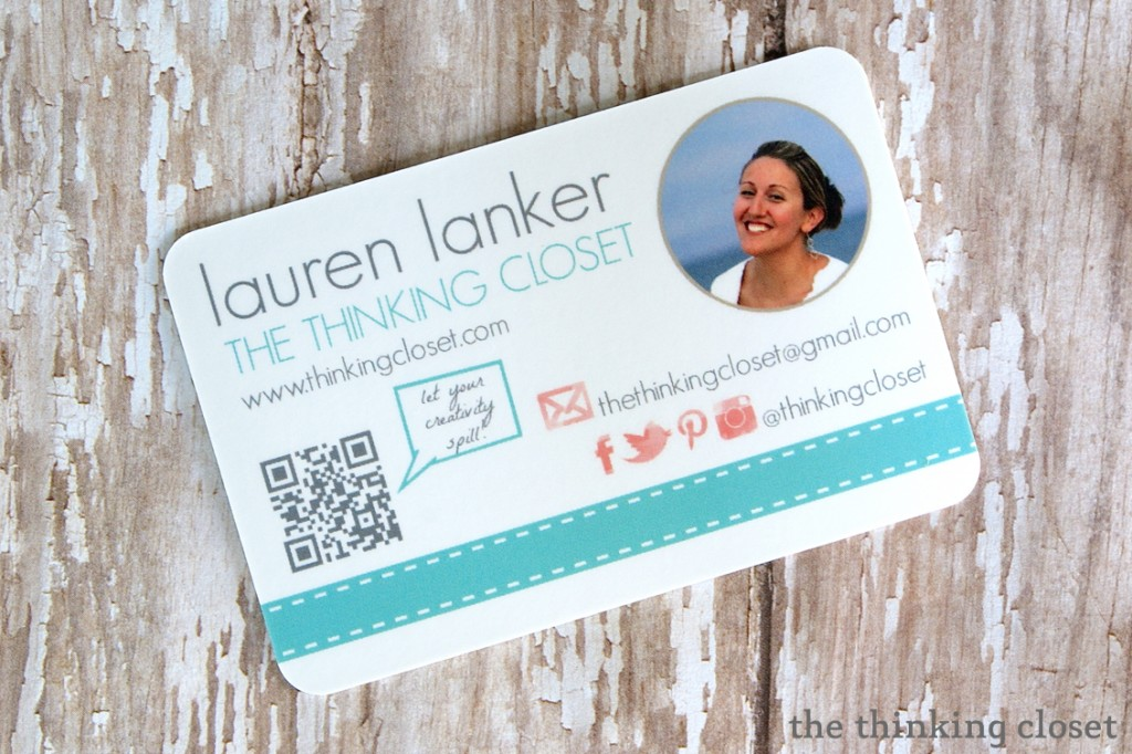 My New Moo Business Cards!  by The Thinking Closet