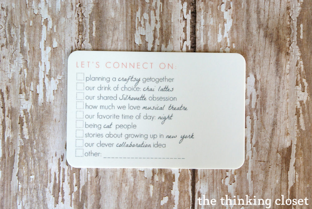 My New Blogger Business Cards!  by The Thinking Closet