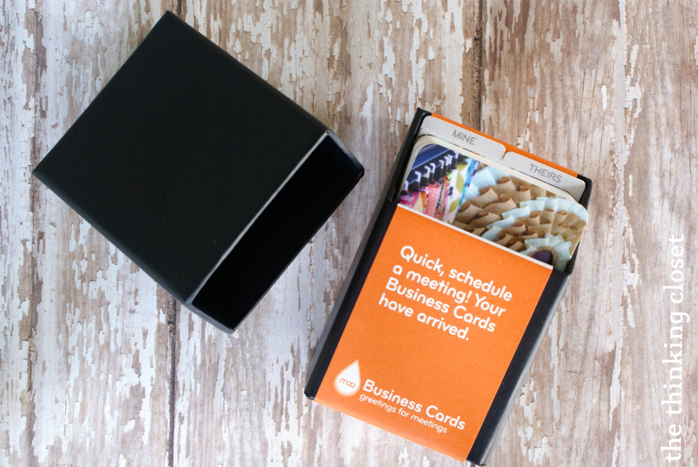 My New MOO Business Cards & Giveaway for 3! - the thinking closet