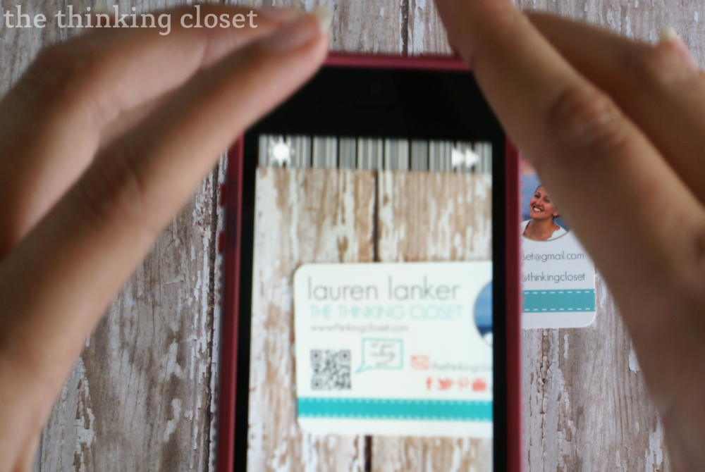 How and why to add a QR code to business cards!  |  The Thinking Closet