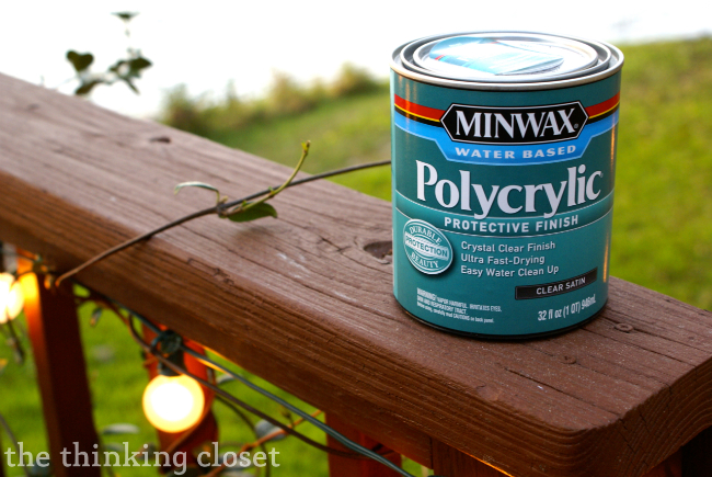 Polycrylic finish | The Thinking Closet