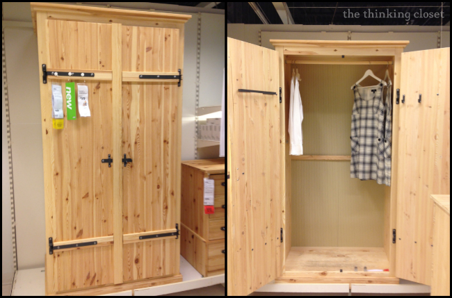 Fjell Wardrobe on the Showroom Floor at IKEA | The Thinking Closet