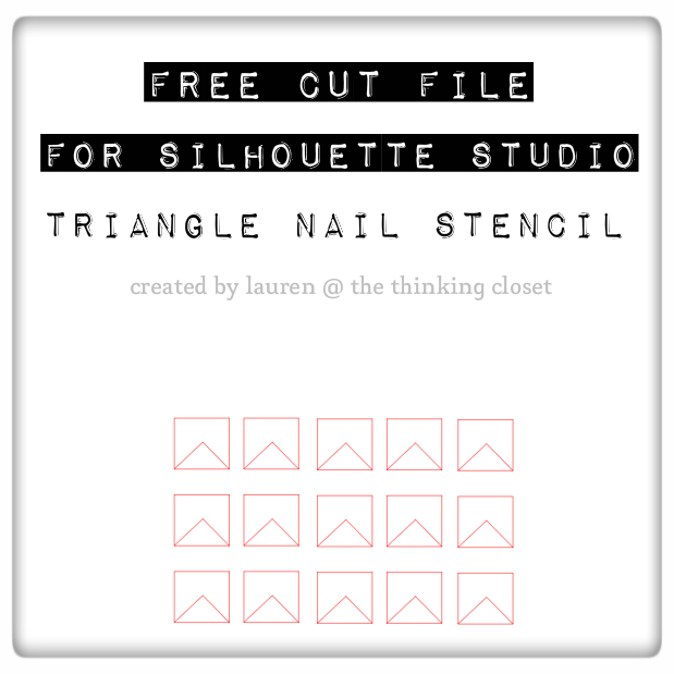 Free Cut File of Triangle Nail Stencil via The Thinking Closet