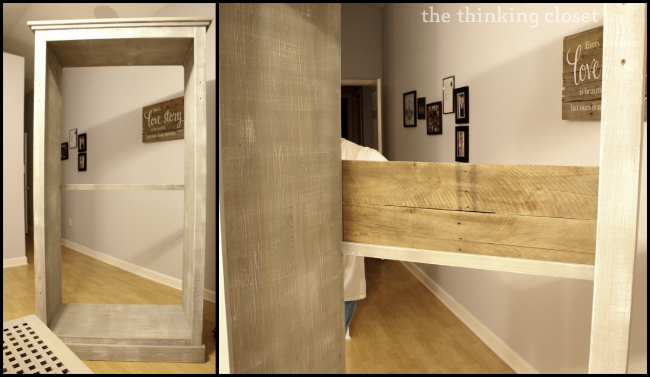 Replacing A Fiberboard Backing With Pallet Boards For A More Rustic Look  And Sturdy Wardrobe!