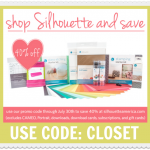 40% off all Silhouette Consumables - July 23-27 - Use code CLOSET
