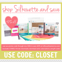 40% off Silhouette Sale & Portrait Giveaway!