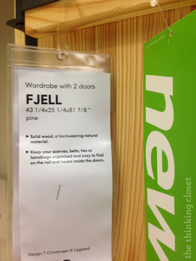 Fjell Wardrobe on the IKEA showroom floor | The Thinking Closet