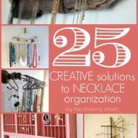 25 Creative Solutions to Necklace Organization