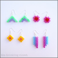 Perler Bead Earrings: A 10 Minute Craft!