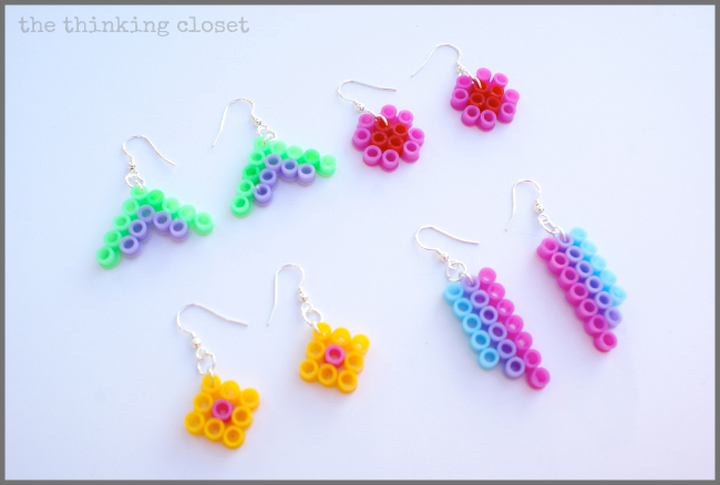 Perler Bead Earrings...a quick and easy craft you can knock out in 10 minutes time!