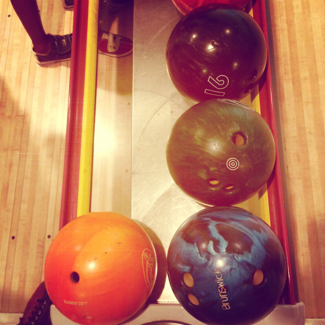 Bowling...oh how I wish I could still use bumpers.