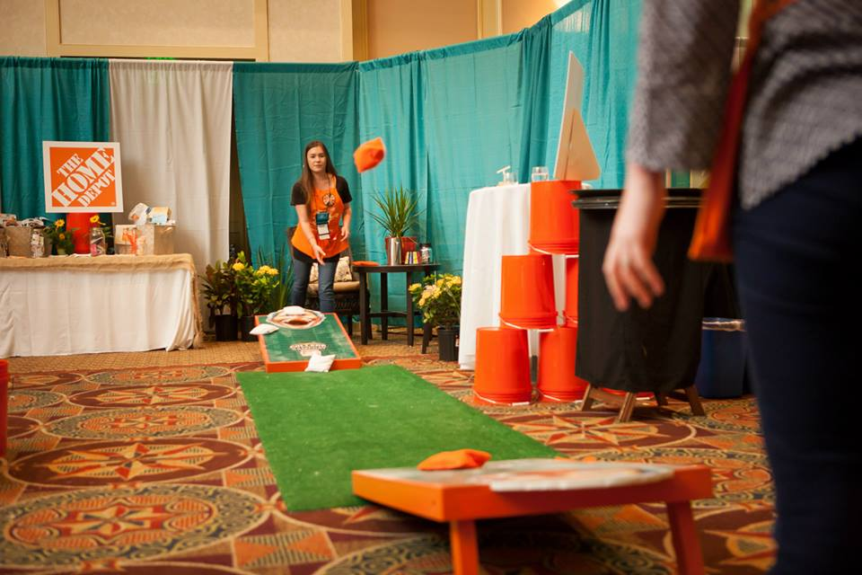 Cornhole at the Home Depot Booth at Haven 2013