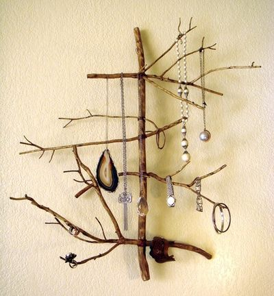 DIY Twig Jewelry Display