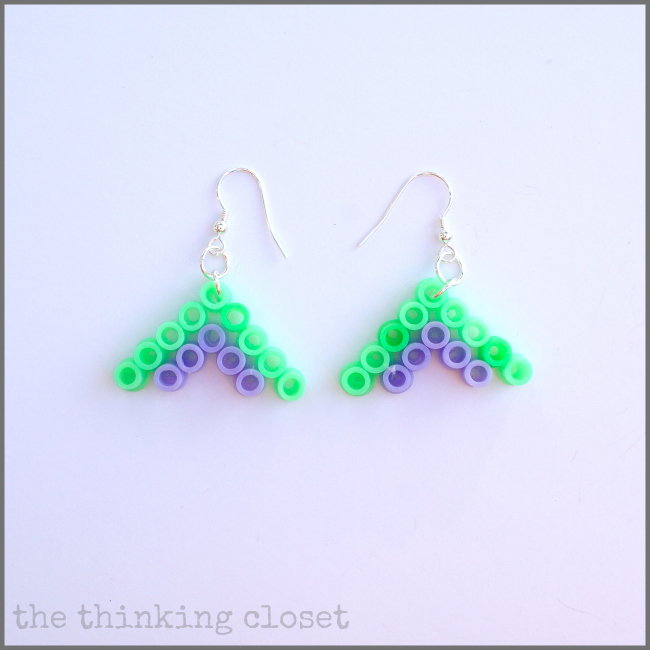 Perler Bead Earrings Finished in 10 Minutes Flat!