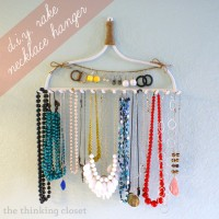 DIY Rake Necklace Hanger