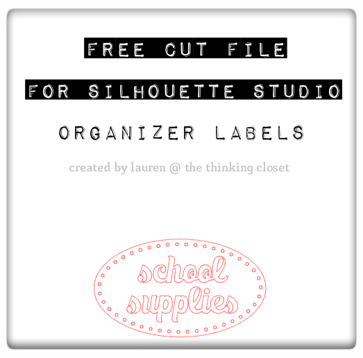 Free Cut File for Silhouette Studio - Labels!
