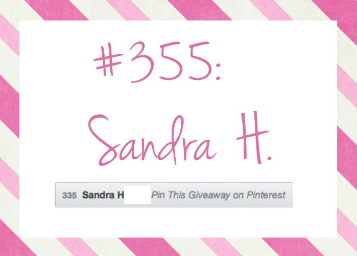 Congrats, Sandra!
