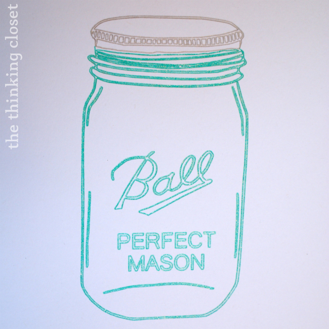 Blue Mason Jar Drawing Aqua Ball Mason Jars