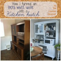 Wall Unit to Kitchen Hutch Makeover