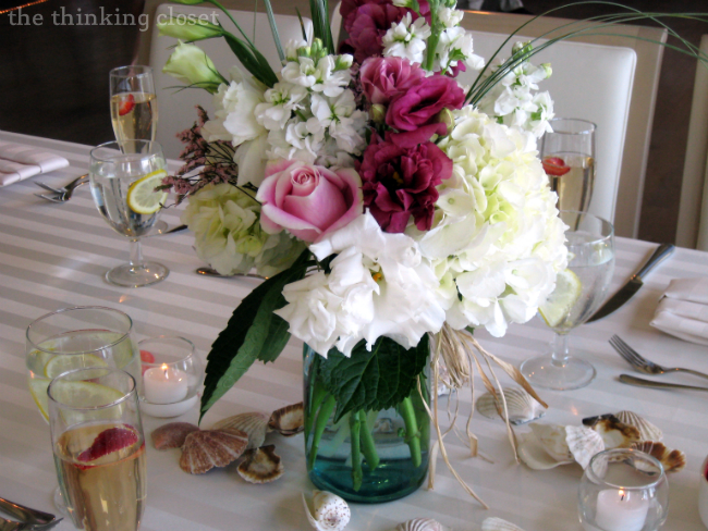 Mason Jar Centerpieces at our D.I.Y. Wedding
