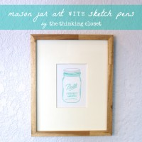 Mason Jar Art with Sketch Pens & Silhouette Giveaway