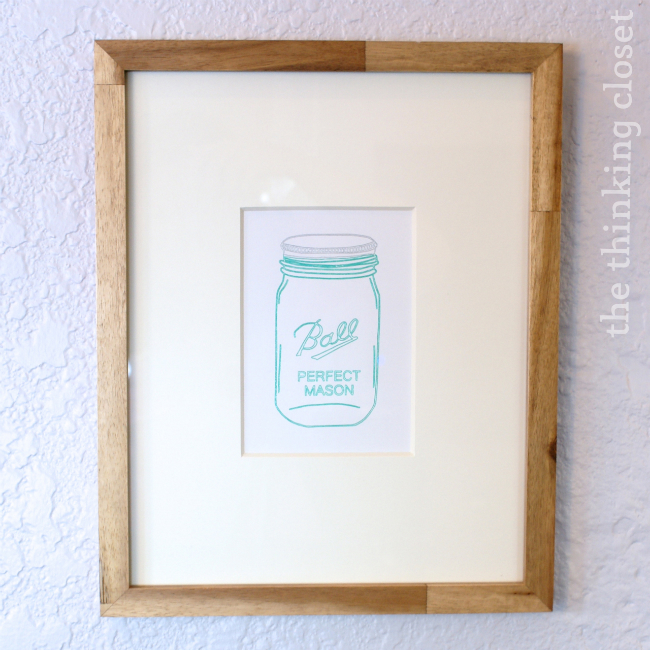 Mason Jar Art with Silhouette Sketch Pens.  A tutorial by The Thinking Closet.