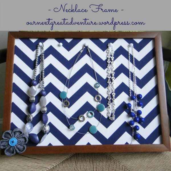 Chevron Necklace Organizer Frame | This Sarah Loves
