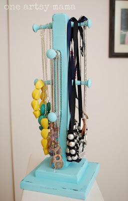 Shabby Chic Jewelry Organizer | One Artsy Mama