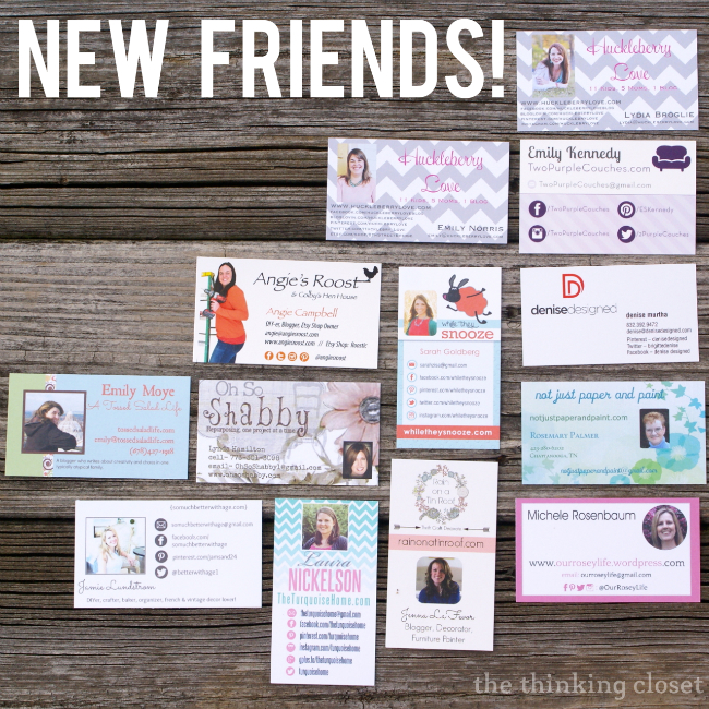 I loved collecting business cards from my blogger buddies turned real life buddies at Haven 2013!