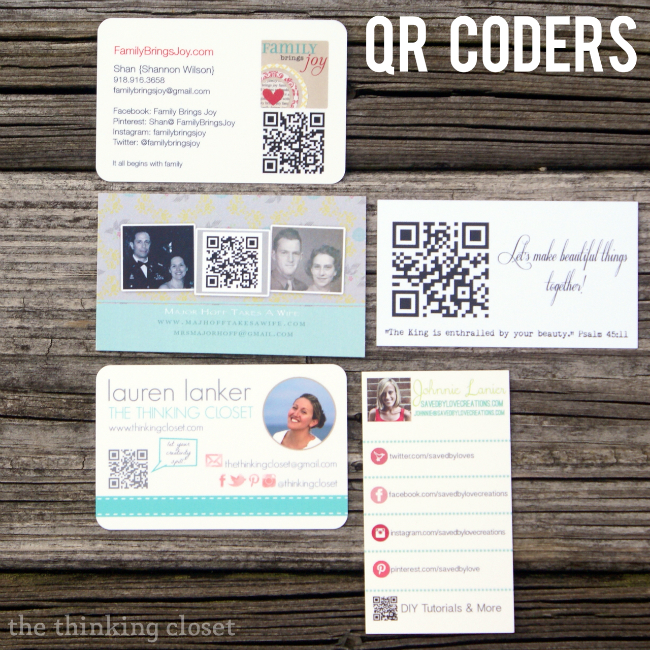 Consider adding a QR code to your card to quickly whisk people to your site using a smart phone app!