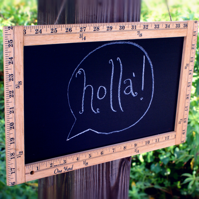Ruler Frame Chalkboard Sign - - fun to use as a message board!