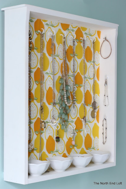 Shadowbox necklace organizer