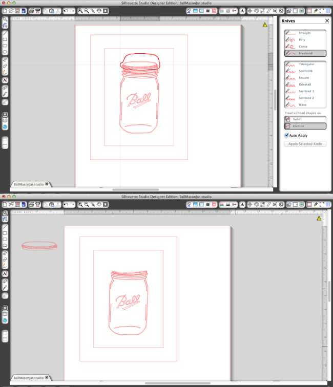 How to create sketch pen mason jar art in Silhouette Studio.