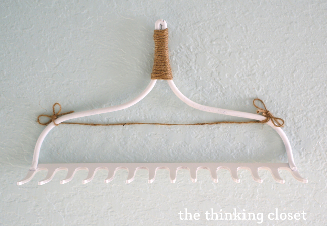 DIY Rake Necklace Hanger with Twine for Earrings