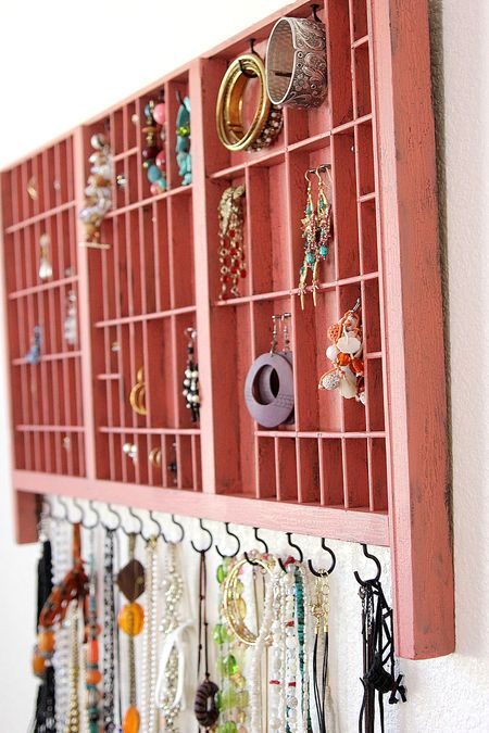 Type Set Tray as Jewelry Organizer