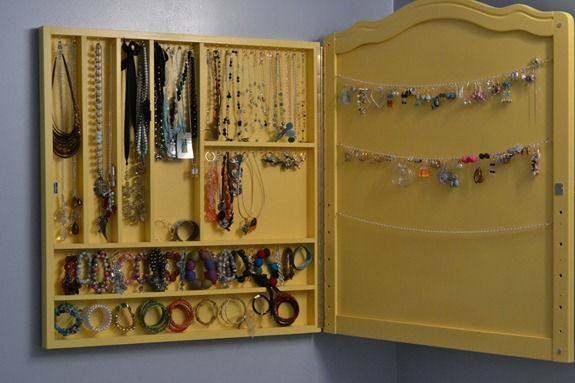 Jewelry Hanging Organizer Homemade Style Guru Fashion Glitz